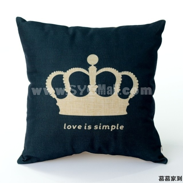 Decorative Printed Morden Stylish Style Heart/Crown Throw Pillow