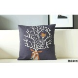 Wholesale - Decorative Printed Morden Stylish DEER Style Throw Pillow