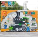 Wholesale - WANGE High Quality Building Blocks Small Bricks Train Series 82 Pcs LEGO Compatible
