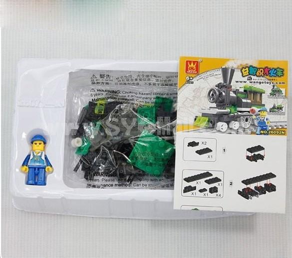 WANGE High Quality Blocks Small Bricks Train Series 82 Pcs LEGO Compatible 26092N