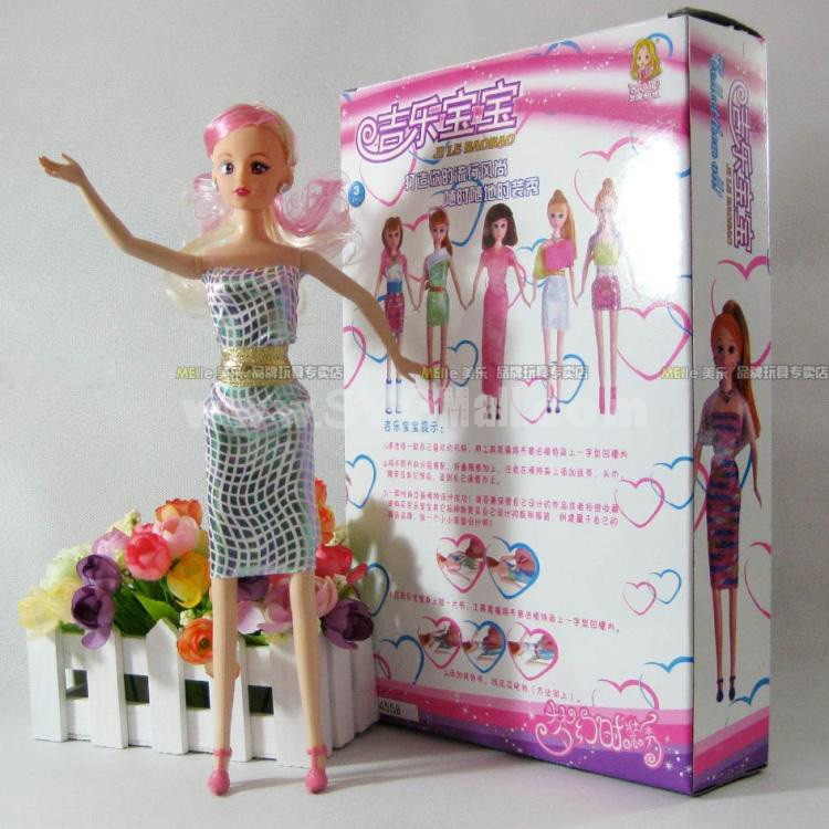 Lovely DIY Barbie Doll with Suits Get Changed Toy