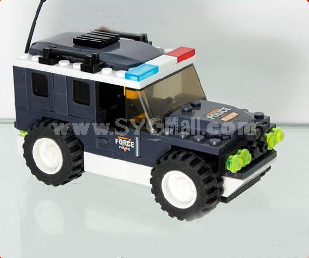 WANGE High Quality Blocks Police Series Squad Car 114 Pcs LEGO Compatible 040215