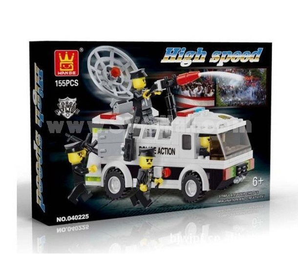 WANGE High Quality Blocks Police Series Police Car 170 Pcs LEGO Compatible 040218