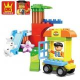 Wholesale - WANGE High Quality Building Blocks Children's World Series 30 Pcs