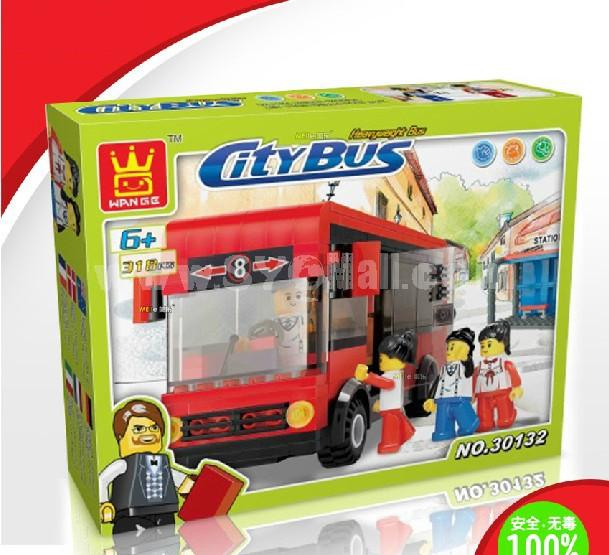 WANGE High Quality Blocks Bus Series 318 PcsLEGO Compatible 30132