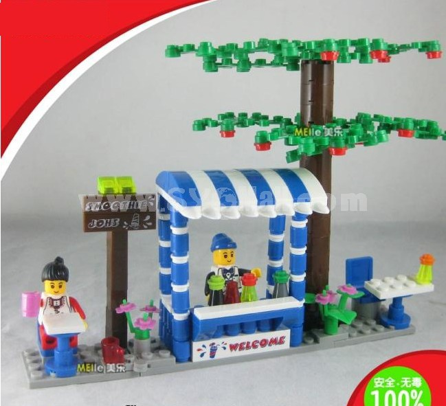 WANGE High Quality Blocks Business Street Series 191 Pcs LEGO Compatible 26143