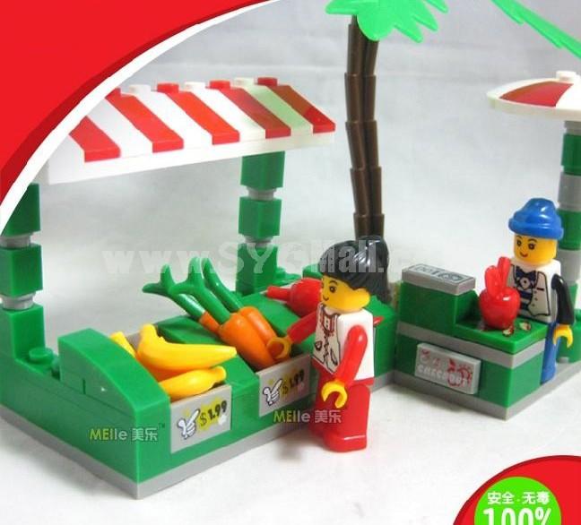 WANGE High Quality Plastic Blocks Business Street Series 114 Pcs LEGO Compatible 26141