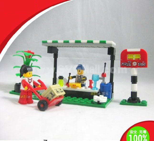 WANGE High Quality Plastic Blocks Business Street Series 107 Pcs LEGO Compatible 26142