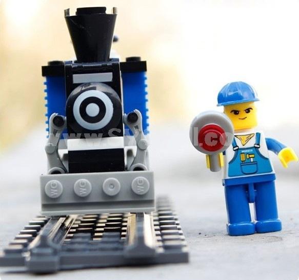WANGE High Quality Plastic Blocks Small Bricks Train Series 73 Pcs LEGO Compatible 26094N