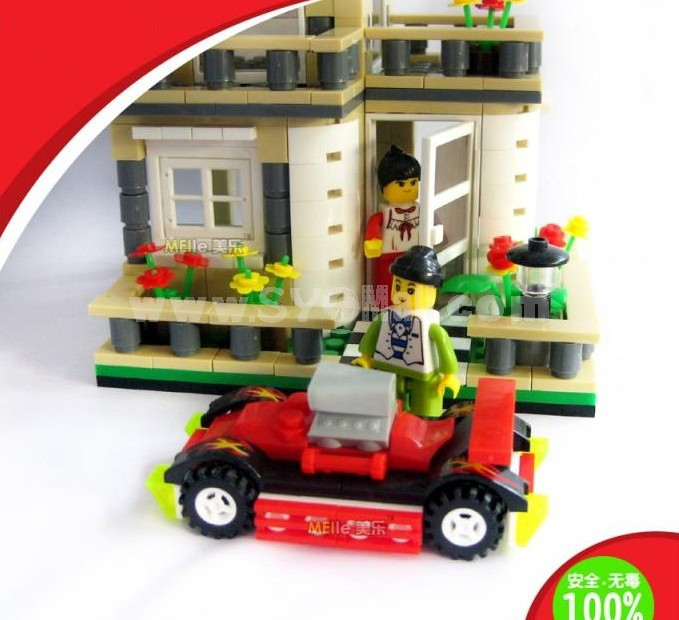 WANGE High Quality Plastic Blocks Villa Series 405 Pcs LEGO Compatible 31051