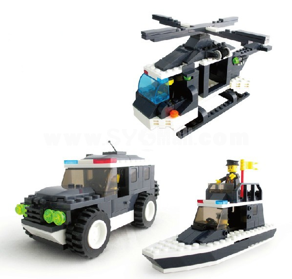 WANGE High Quality Plastic Blocks Police Series 399 Pcs LEGO Compatible 040220
