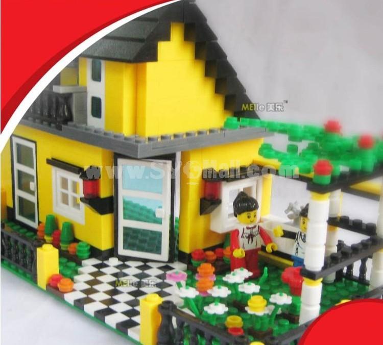 WANGE High Quality Plastic Blocks Villa Series 449 Pcs LEGO Compatible 31051