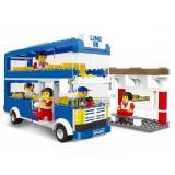 Wholesale - WANGE High Quality Plastic Blocks Bus Series 302 Pcs LEGO Compatible