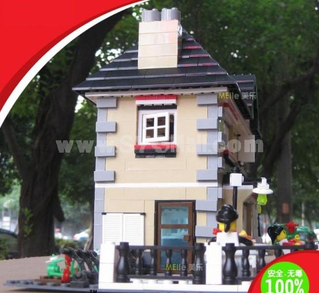 WANGE High Quality Plastic Blocks Villa Series 909 Pcs LEGO Compatible 34051