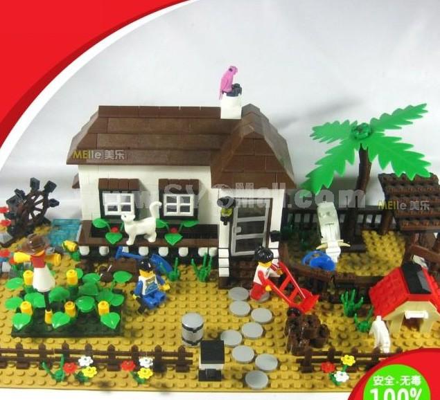 WANGE High Quality Plastic Blocks Farm Series 483 Pcs LEGO Compatible 34204