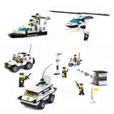 Wholesale - WANGE High Quality Plastic Blocks Police Series 568 Pcs LEGO Compatible