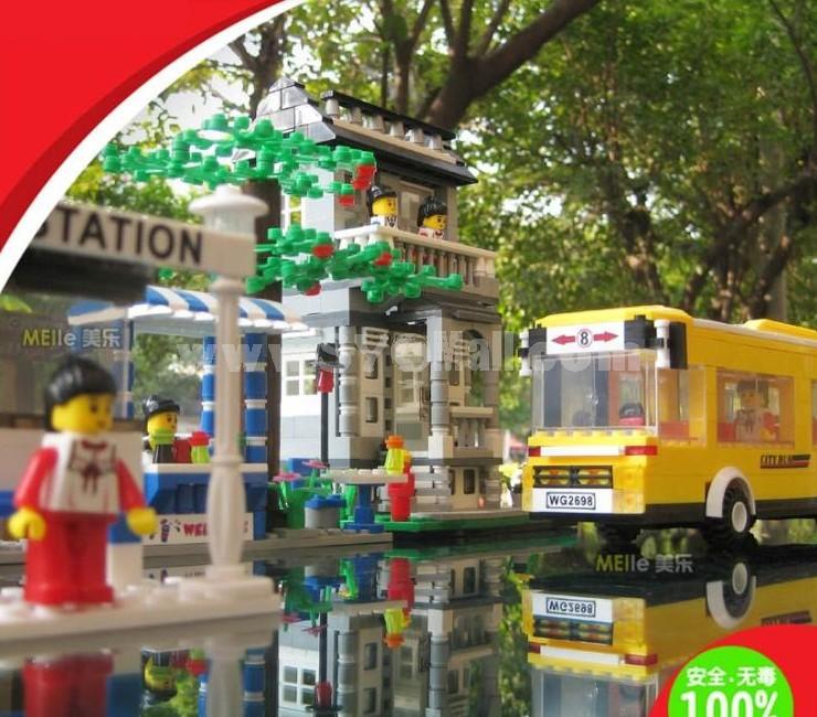 WANGE High Quality Plastic Blocks Bus Series 960 Pcs LEGO Compatible