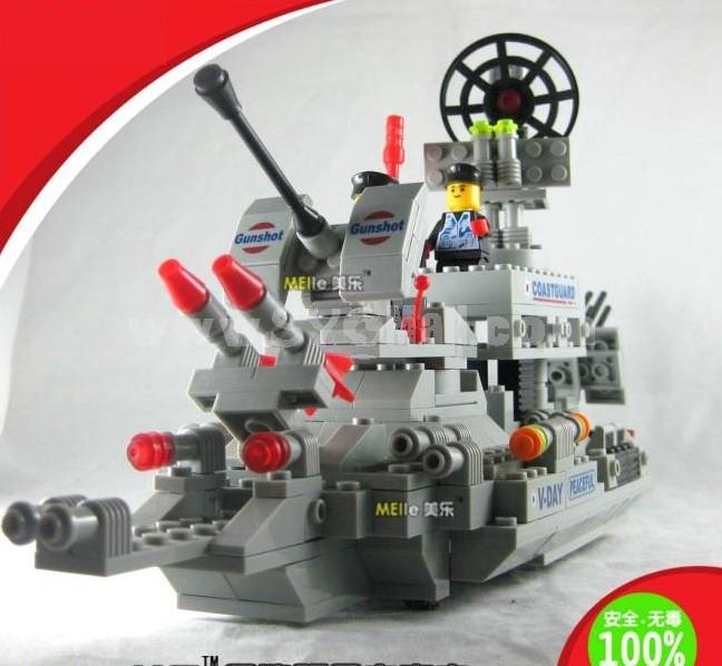 WANGE High Quality Plastic Blocks Warship Series 770 Pcs LEGO Compatible 040342