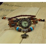 Wholesale - Retro Style Women's Hand Knitting Alloy Quartz Movement Glass Round Fashion Watcht (More Colors)