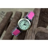 Wholesale - Retro Style Women's PU Alloy Quartz Movement Glass Round Fashion Watch (More Colors)