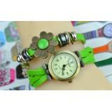Wholesale - Retro Style Women's Hand Knitting Alloy Quartz Movement Glass Round Fashion Watch (More Colors)