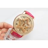 Wholesale - Retro Style Women's PU Alloy Quartz Movement Glass Round Fashion Watch (More Colors)