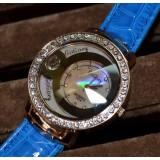 Wholesale - Retro Style Women's PU Alloy Quartz Movement Glass Round Fashion Watch with Thinestone