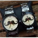 Wholesale - Retro Style Women's Beard Pattern Alloy Quartz Movement Glass Round Fashion Watch