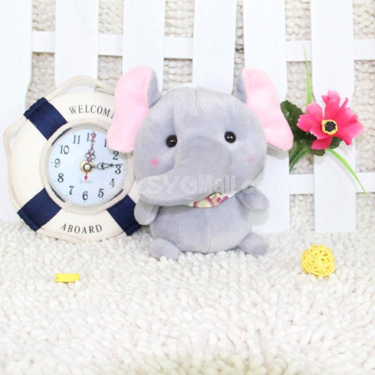 Cute Bow Tie Elephant Plush Toy 16cm/6in