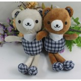 Wholesale - Plaid Shirt Bear Plush Toy 20cm/8inch