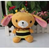 Wholesale - Cartoon Bee Bear Plush Toy 18cm/7inch
