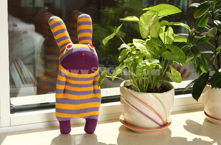 Creative Cute Stripes Rabbit Plush Toy 28cm/11in
