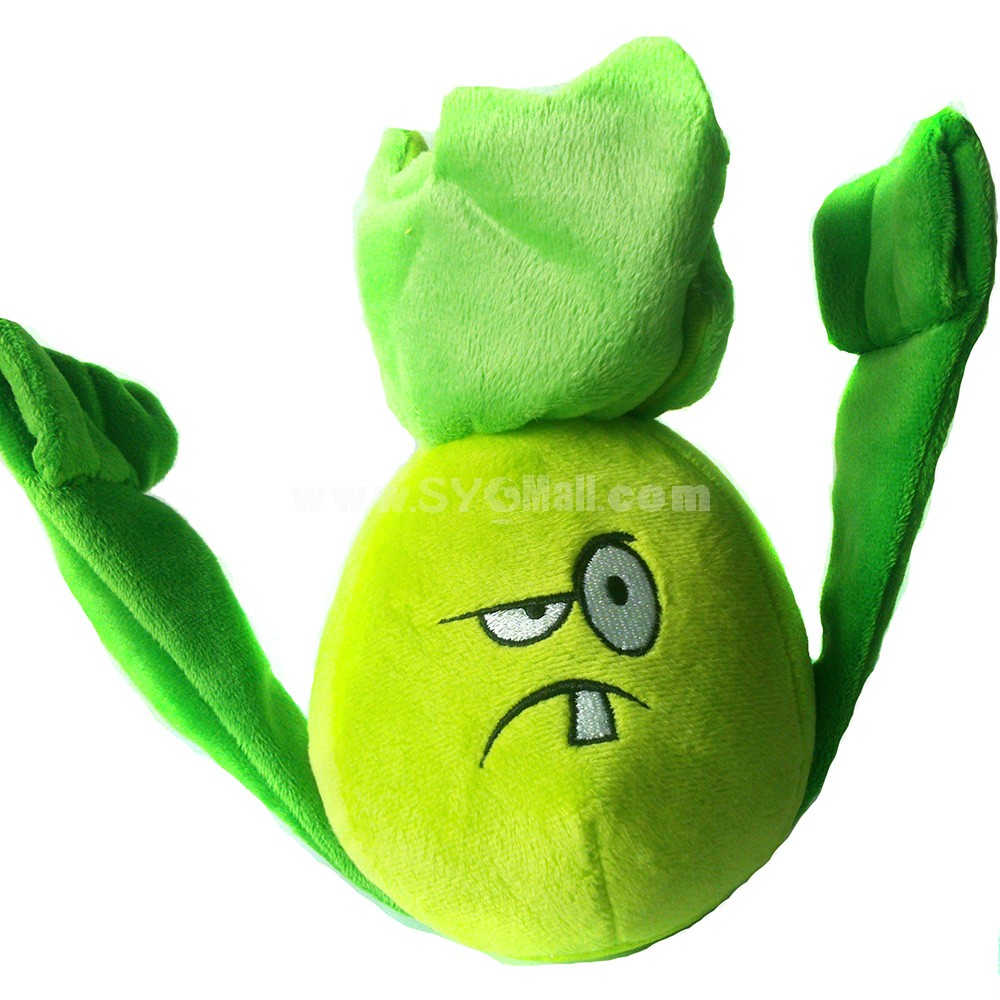 Plants vs Zombies 2 Series Plush Toy Bonk Choy 18*12CM/7*5in Small Size