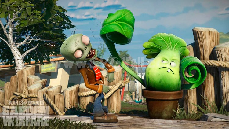 "Plants vs Zombies 2 Series Plush Toy Bonk Choy 18*12CM/7*5"" Small Size"