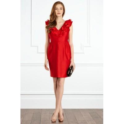 http://www.orientmoon.com/83677-thickbox/2013-new-arrival-red-v-neck-bride-bridesmaid-dress-evening-dress-km131.jpg
