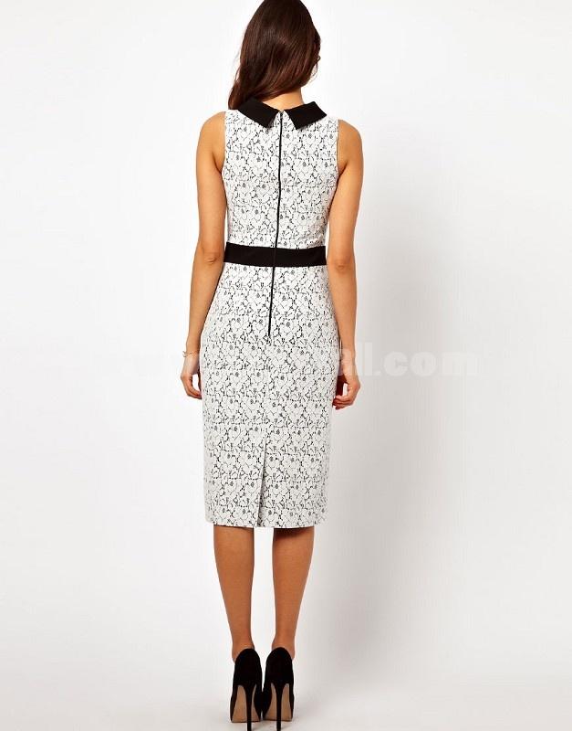 2013 New Arrival KM Elegant Polo Neck Lace Slim Dress Evening Dress KL433