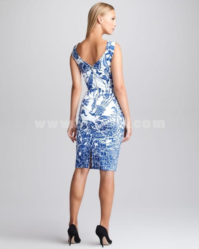 BCBG2013 New Arrival Boat Neck Sleeveless Slim Dress Evening Dress CD097