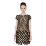 Wholesale - Vintage Leopard Printing Dress Evening Dress