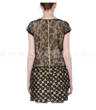 2013 New Arrival Vintage Leopard Printing Dress Evening Dress