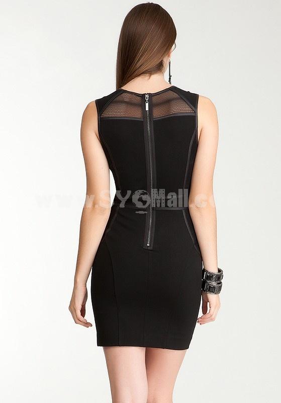 Hot Sale Fashion Sleeveless Slim Dress Evening Dress KM204