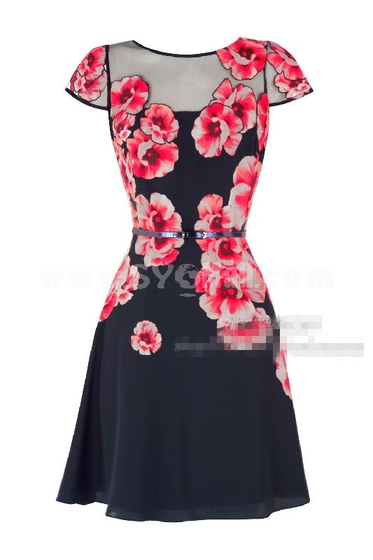 Hot Sale Round Neck Lady Slim Dress Evening Dress CT88798
