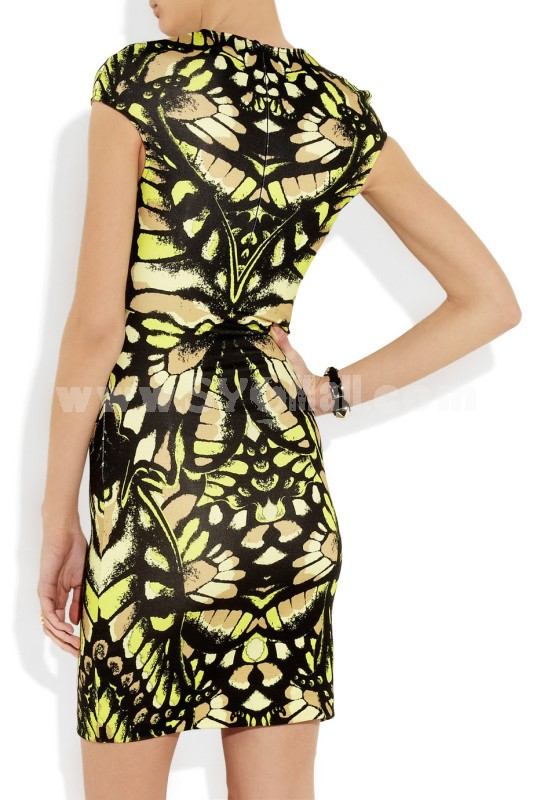 BCBG2013 New Arrival Elegant Printing Slim Hip Package Dress Evening Dress CD083