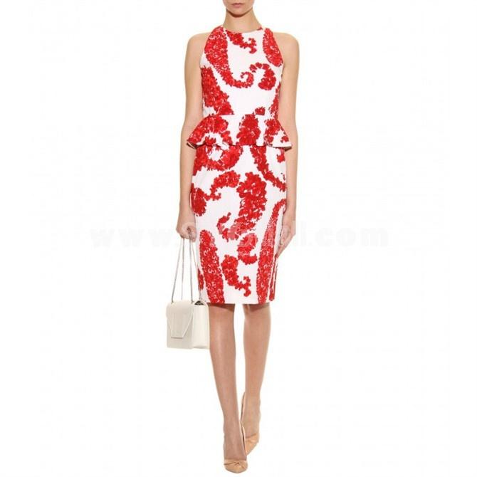 2013 New Arrival Round Neck Sleeveless Lady Dress Evening Dress KC096