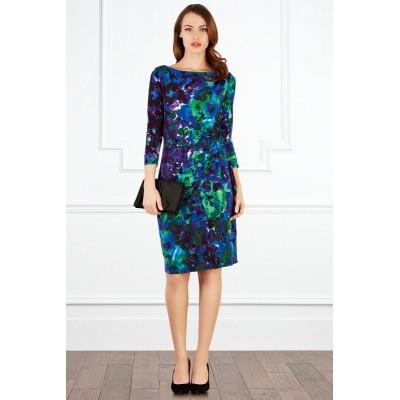 http://www.orientmoon.com/83760-thickbox/2013-new-arrival-seventh-sleeve-blue-printing-slim-dress-evening-dress-ct8398.jpg