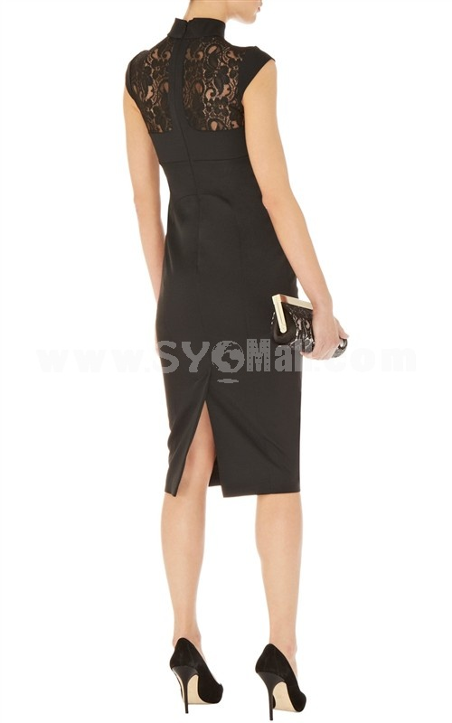 2013 New Arrival Embroidery Simple Design Slim Dress Evening Dress DQ205