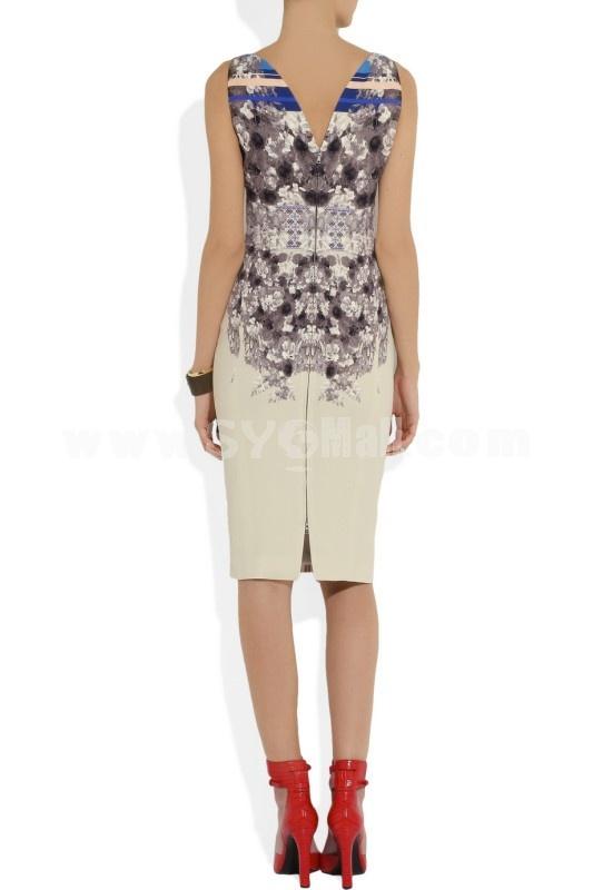 asos--2013New Arrival Printing Pattern Slim Dress Evening Dress CD085