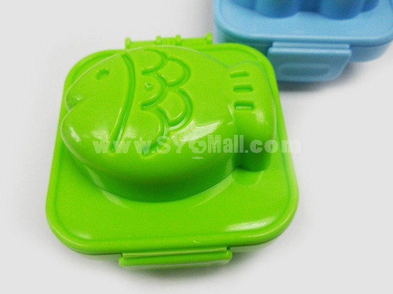 Cute Car Fish Pattern Rice&Egg Mold Creative Kitchen Tool Set 2PCs