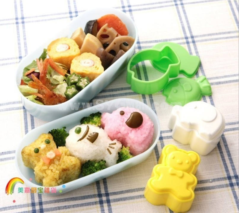 Cute Bear Elephant Fish Pattern DIY Rice Mold Creative Kitchen Tool