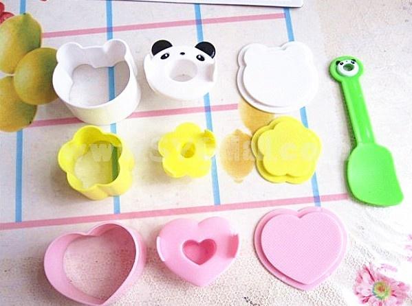 Cute Panda Pattern DIY Rice Mold Creative Kitchen Tool Set