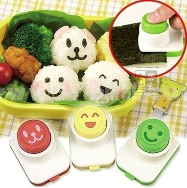 Lovely Fical Expression Pattern Rice Ball Mold